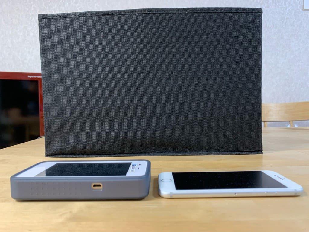 グローバルWi-Fiの厚みはiPhone7の2~3倍くらい