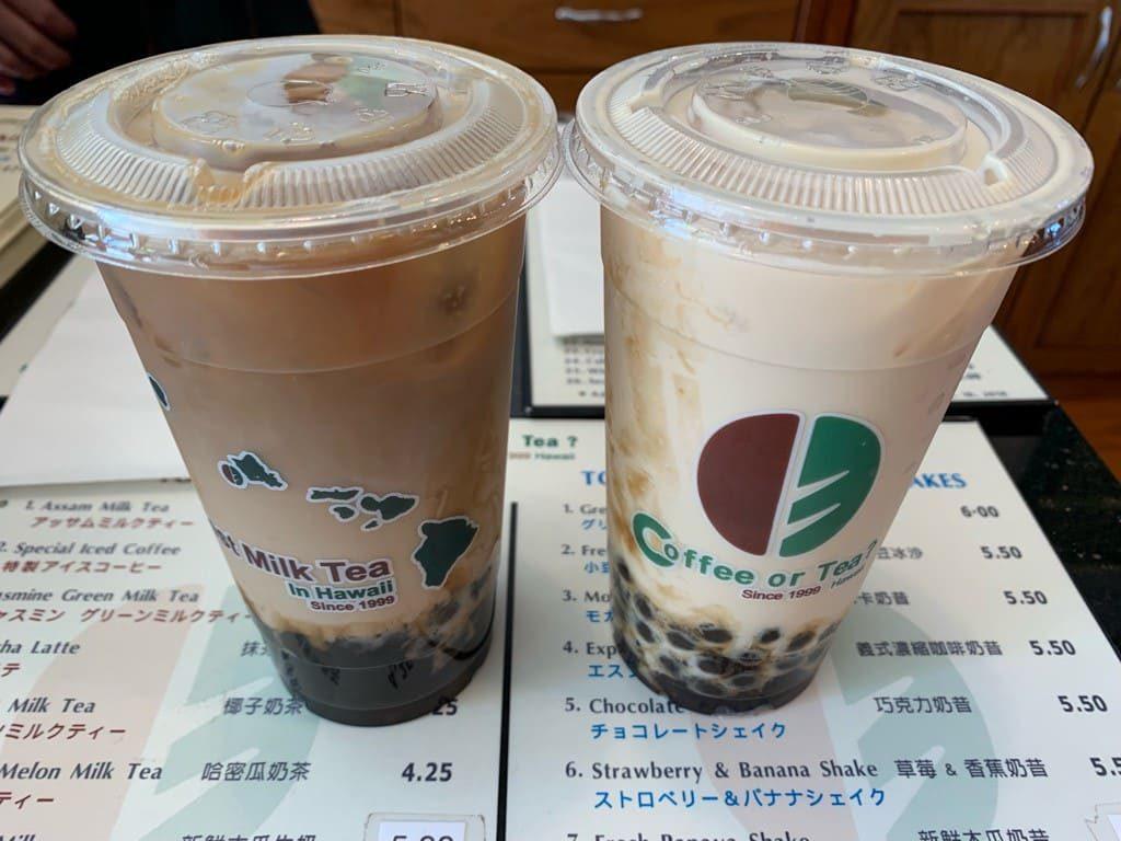 Coffe or Tea?(コーヒー・オア・ティー?) のタピオカドリンクたち