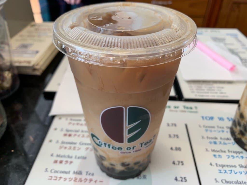 Coffee or Tea?(コーヒー・オア・ティー?) のタピオカドリンク コーヒー