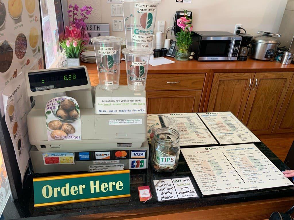 Coffee or Tea?(コーヒー・オア・ティー?) のクレジットカードとチップ