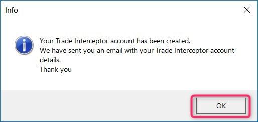 Trade Interceptor 確認メッセージ