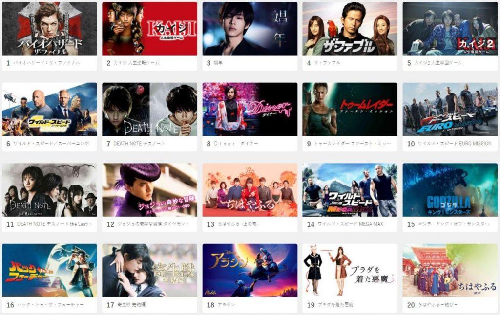 U-NEXT_映画ランキング