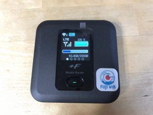Fuji Wifi_1ヶ月間の使用量