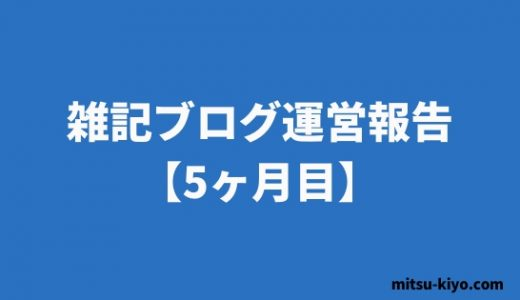 雑記ブログ 5カ月目の運営報告(71,062PV/47,091円)