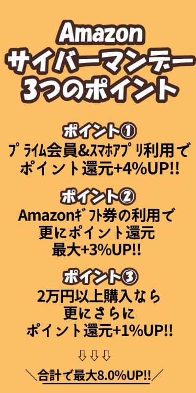 Amazonサイバーマンデー3つのポイント (5)