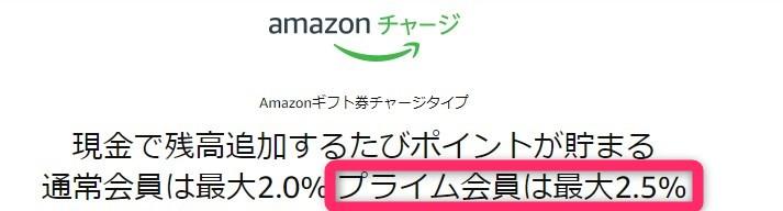 ブラックフライデーおすすめ活用法③|Amazonギフト券を利用する(最大+2.5%)